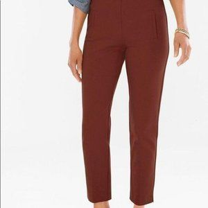 Chico's Juliet Ankle Pants Cropped Brown Size 8